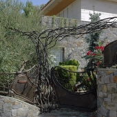 Gate and fence made in corten steel